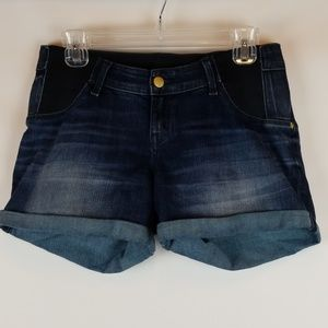 Liz Lange Maternity Denim Shorts Sz Small 4/6